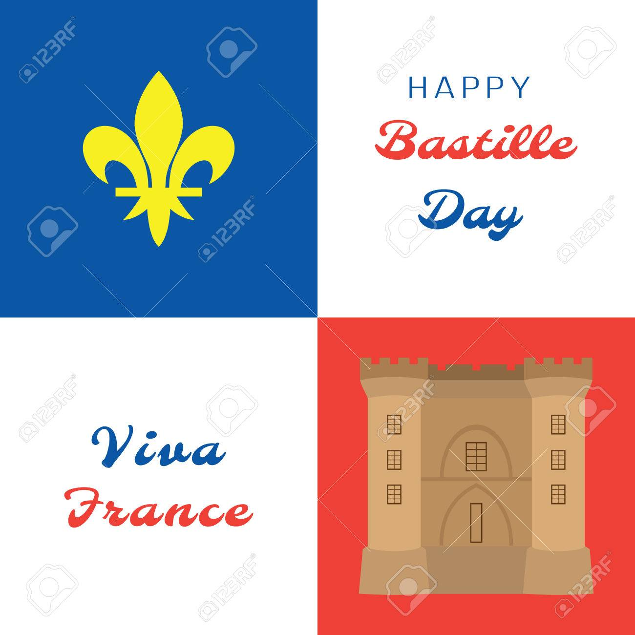 Bastille day symbols of france the lily and the bastille symbols of france the lily and the bastille fortress vector illustration biocorpaavc