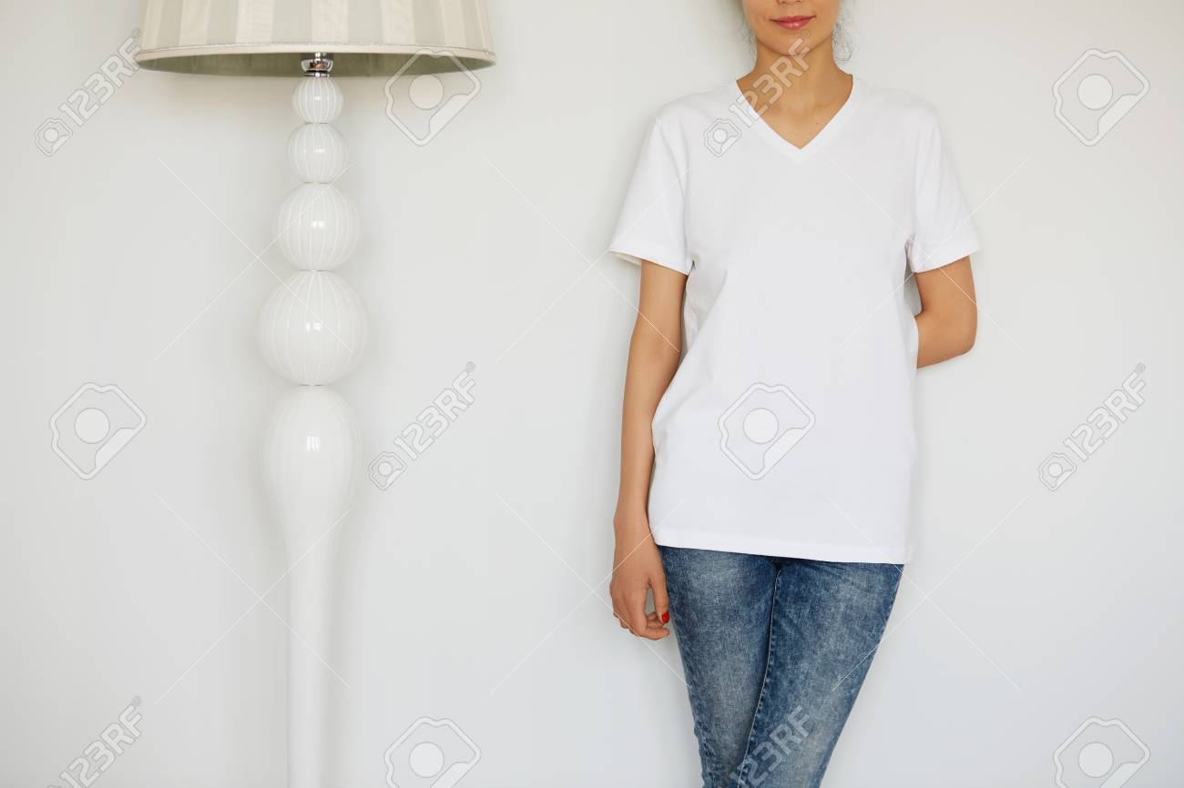 Young Female Office Worker Wearing Casual Clothes At Home ...