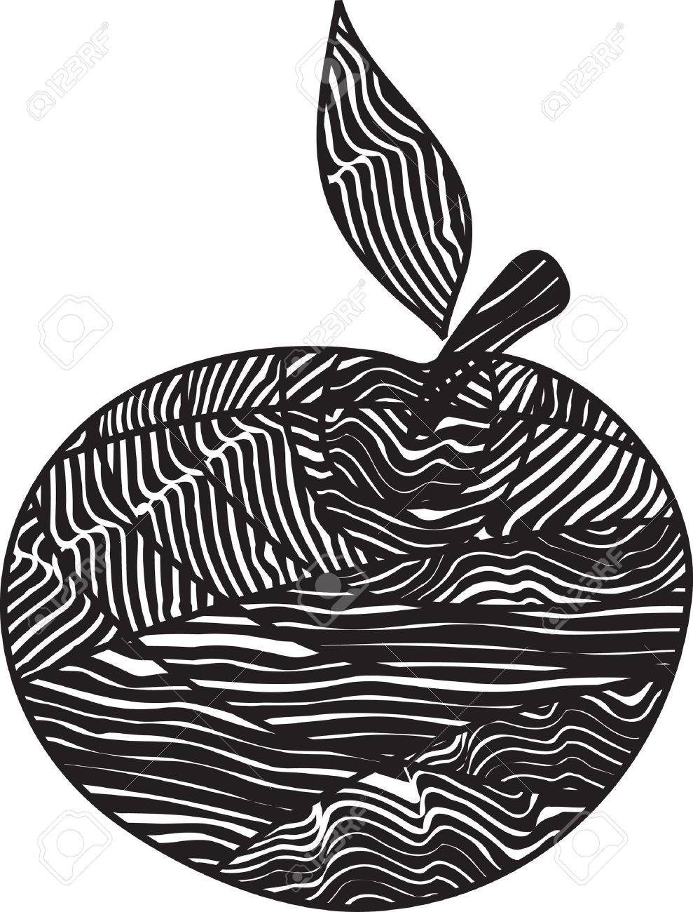 Stylized apple Stock Vector - 3774655