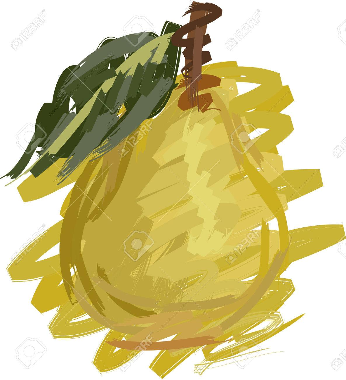 Art. Vector Illustration Of Pear Royalty Free Cliparts, Vectors ...