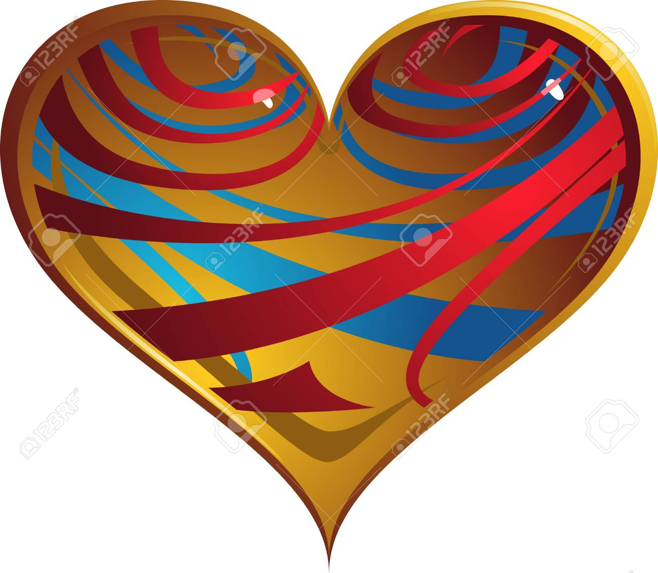Artistic heart-shape Stock Vector - 4116462