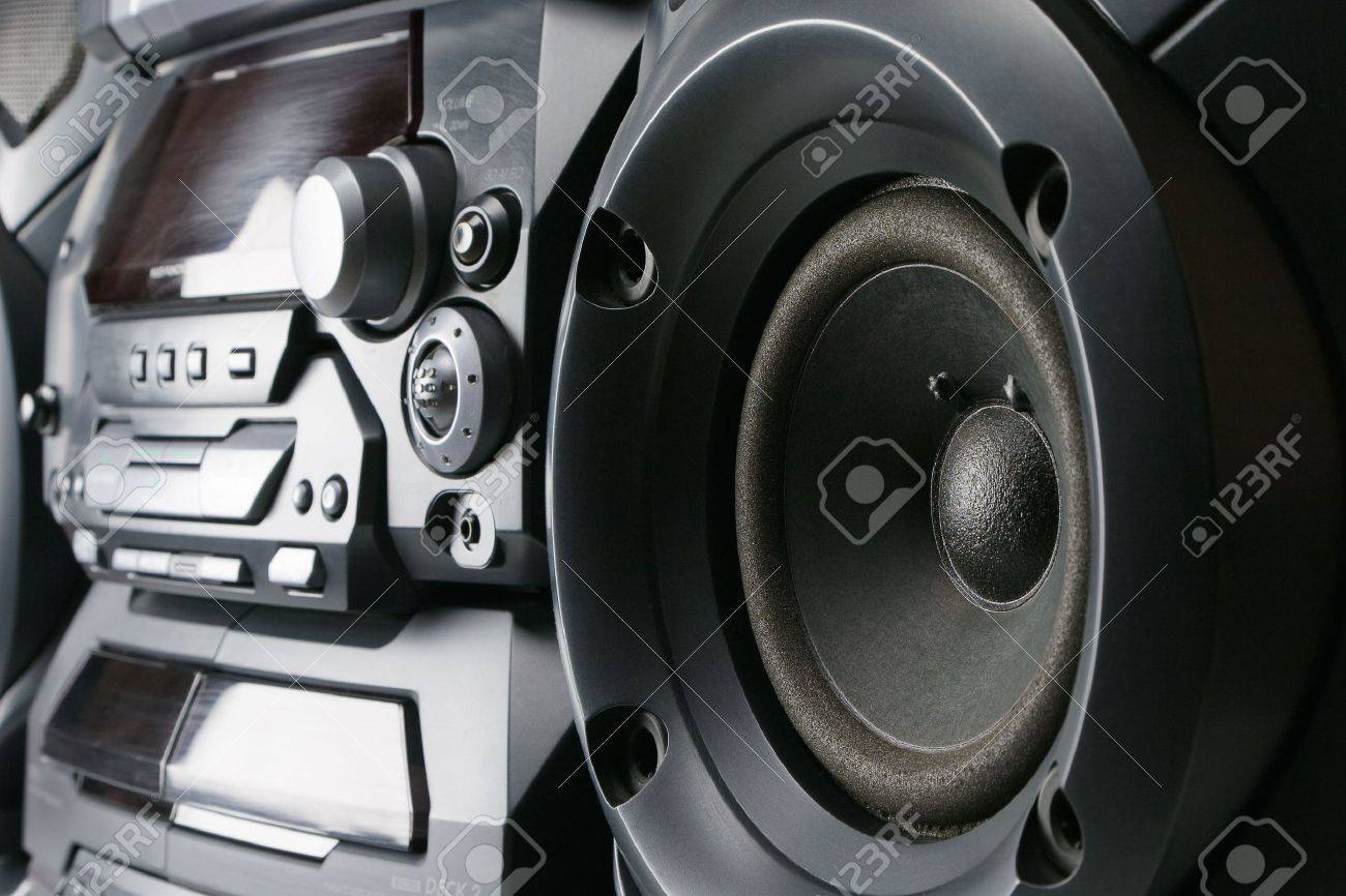 Compact stereo system cd and cassette player with radio Stock Photo - 6432544