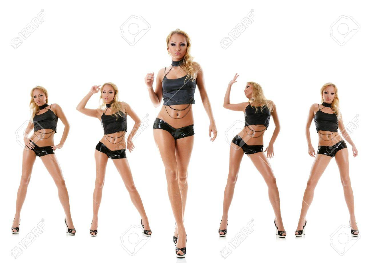 Collection photos of sexy dancing young woman isolated over white  background Stock Photo - 9100471 204d2bb61