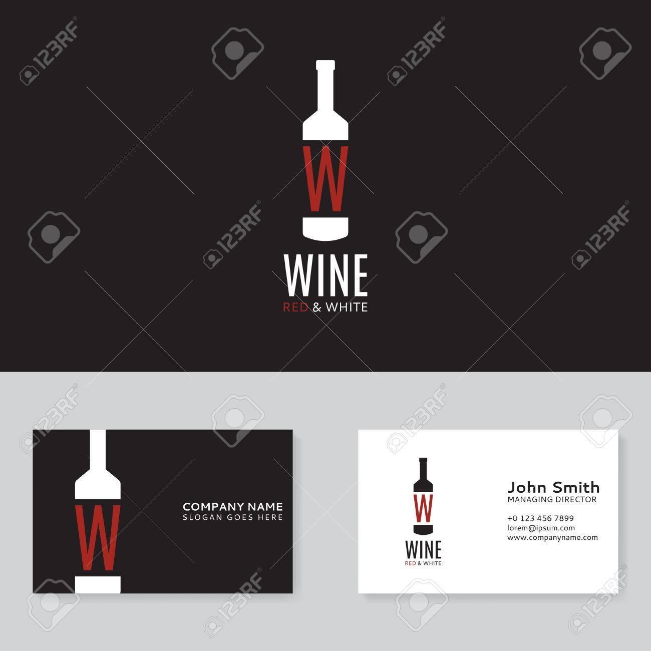 Modele De Vecteur La Carte Visite Vin Rouge Et Blanc Sous
