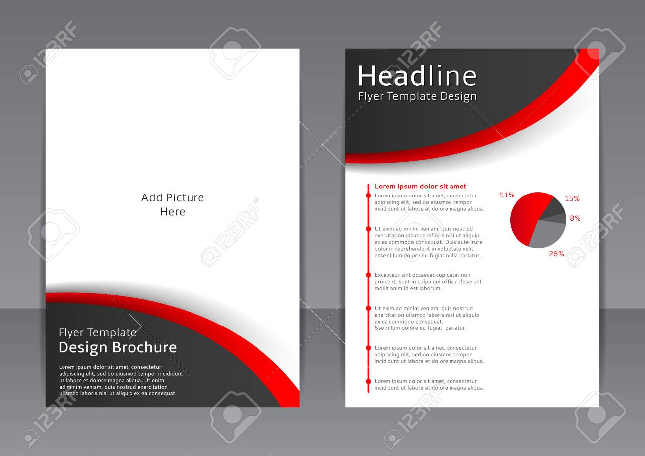 Vector Design Of The Black And White Flyer Cover Brochure - Black and white flyer template free