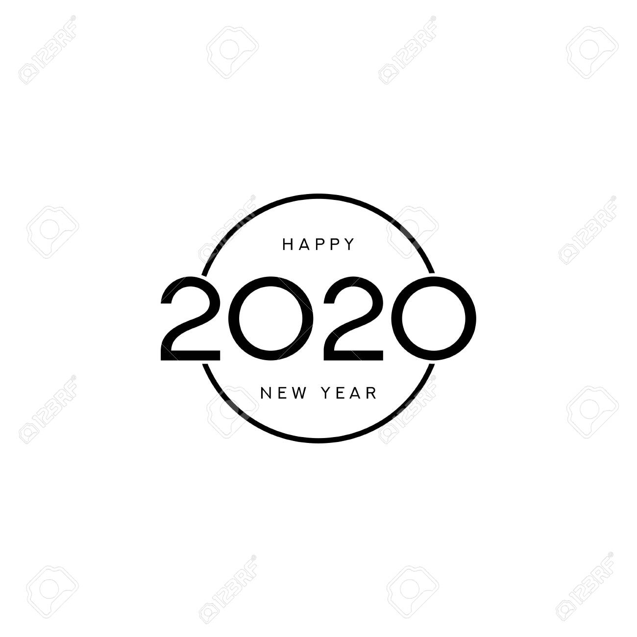 2020 happy new year sign design vector illustration with black royalty free cliparts vectors and stock illustration image 124008829 2020 happy new year sign design vector illustration with black
