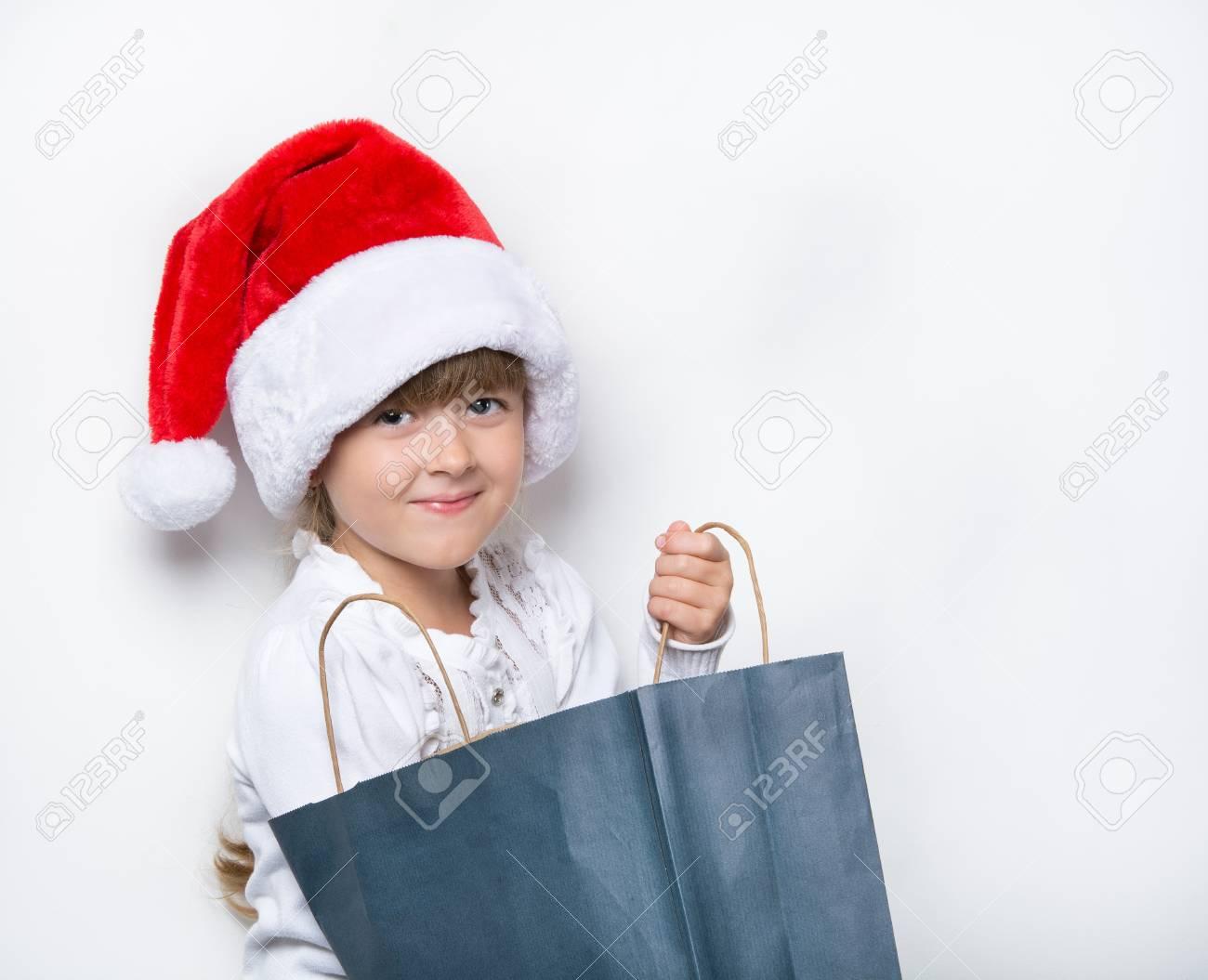Junge Mädchen Für Die Geschenke Im Paket Suchen Lizenzfreie Fotos ...