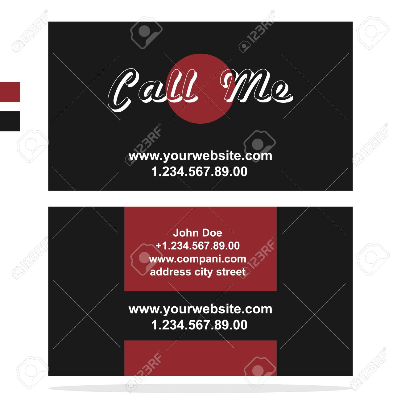 Clean business card template in dark style royalty free cliparts banco de imagens clean business card template in dark style reheart Choice Image