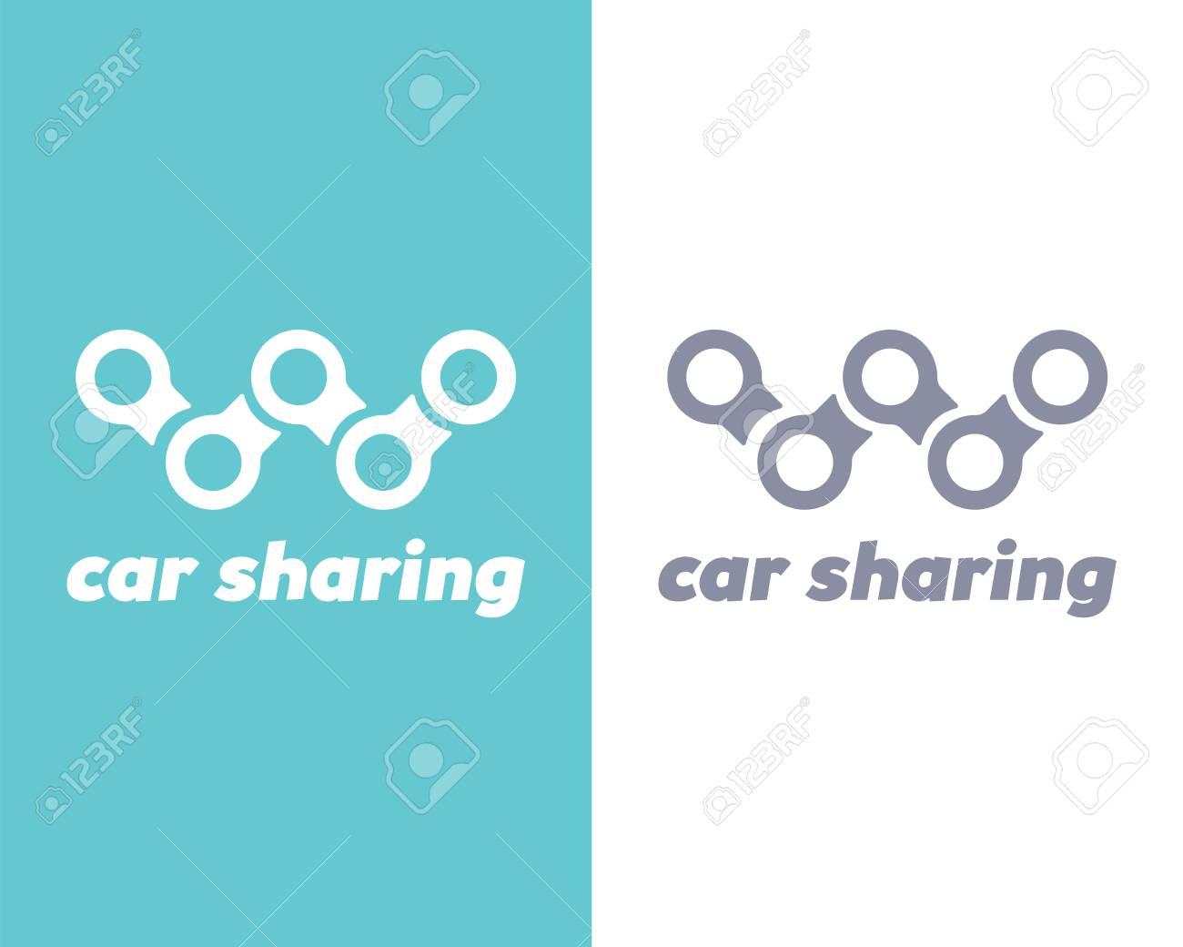 Car Sharing Logo Transport Renting Service Creative Concept