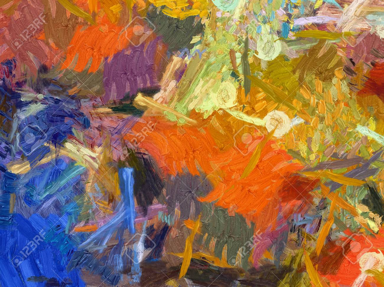 Abstract Painting Impressionism Style Wall Art Canvas Print