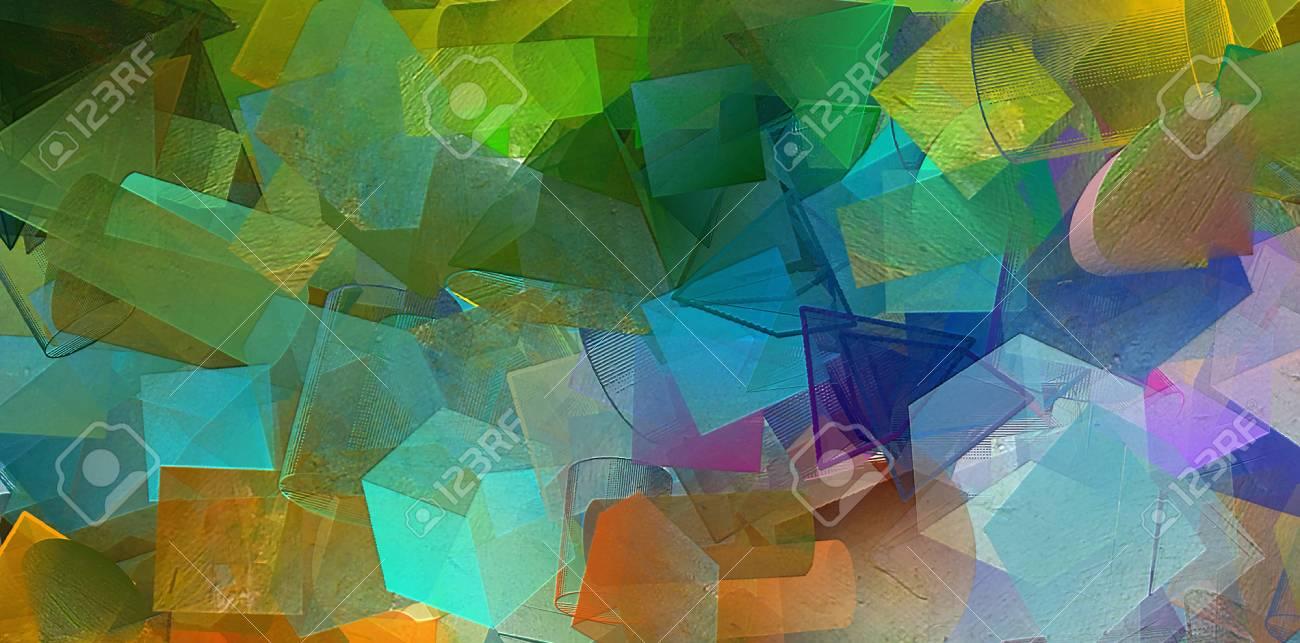 Digital Art Abstract Pattern Hand Drawing Modern Style Art Print