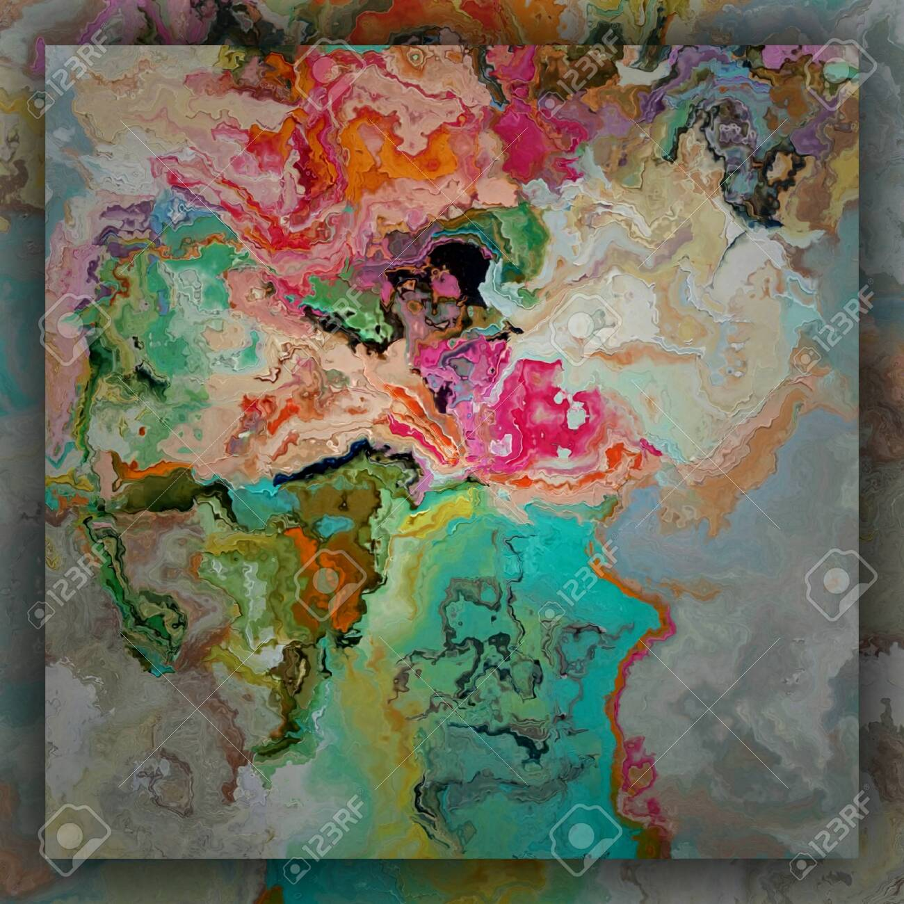 Watercolor Background Abstract Art Creative Print Pattern