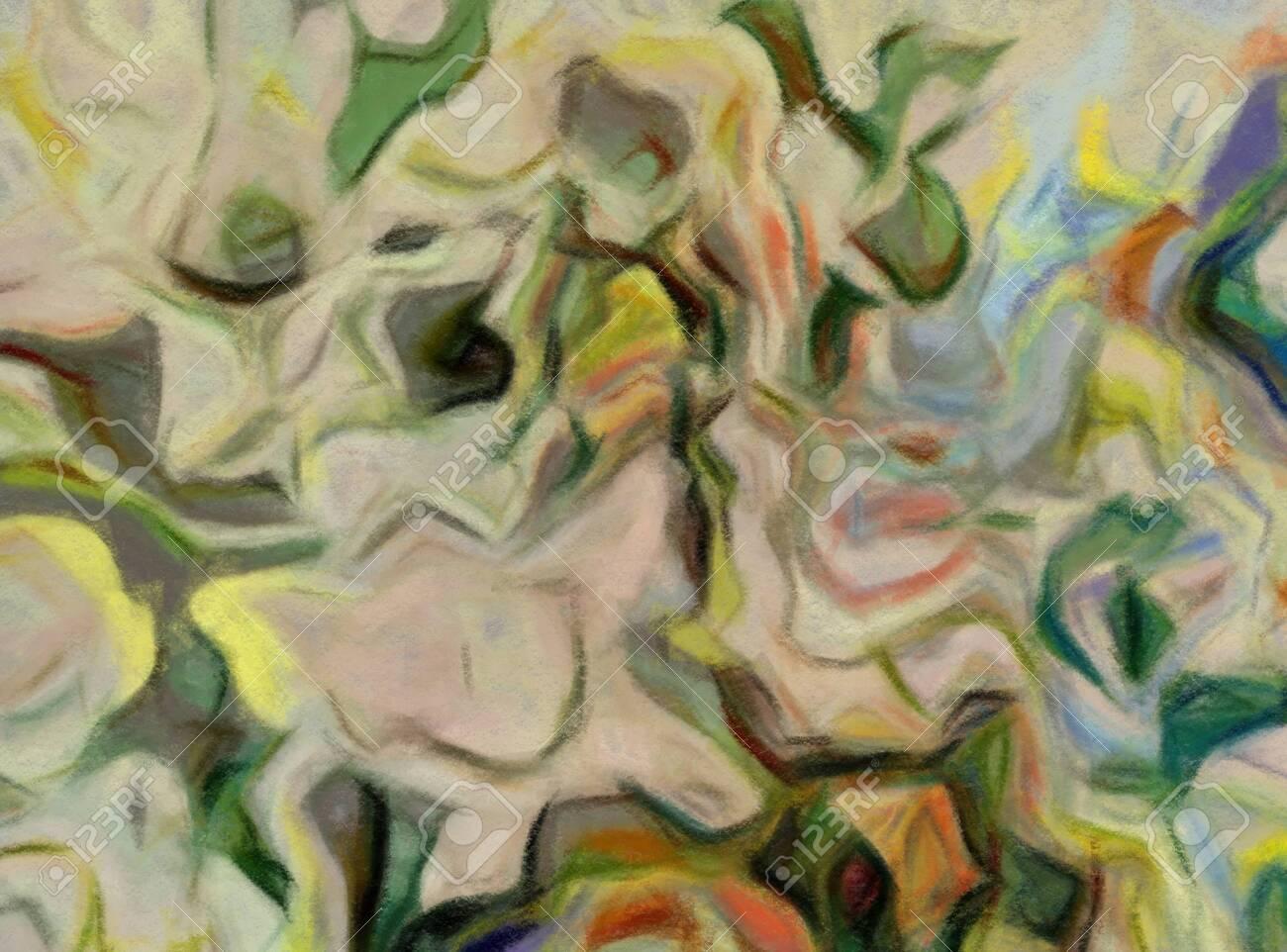 Digital Art Abstract Pattern Hand Drawn Modern Style Art Print