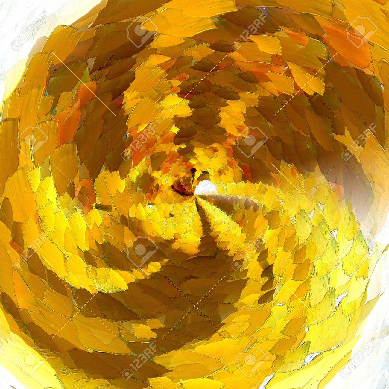 Liquid Golden Drawing Abstract Gold Background Fine Art Print