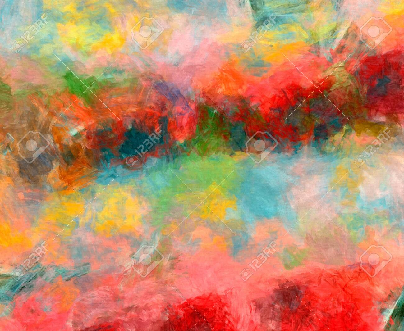 Oil Pastel Drawing Abstract Color Background Fine Art Print