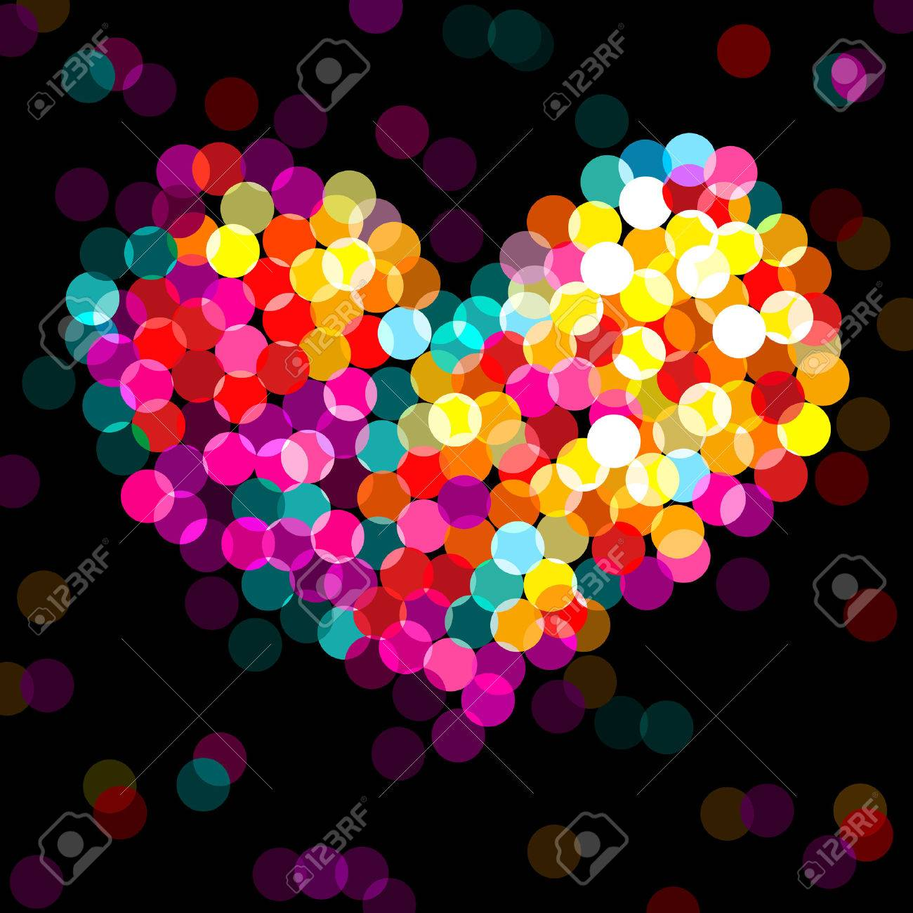 colorful shining, bright heart - 4136813
