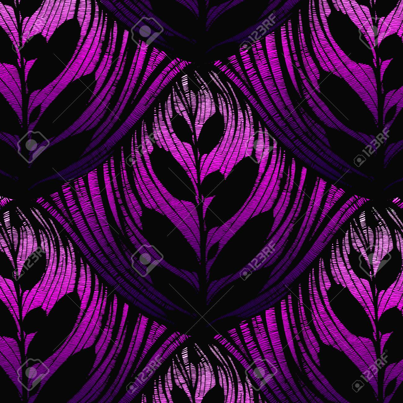vector openworked leaf background. beautiful seamless pattern Stock Vector - 4957302