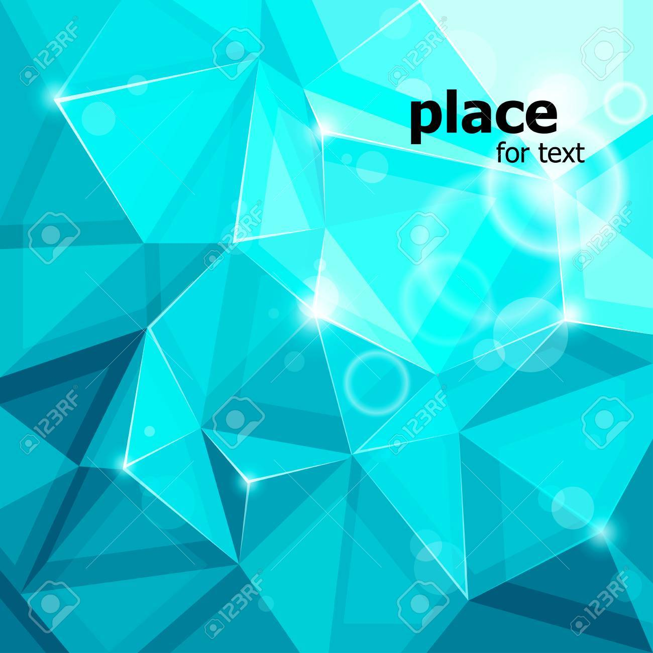 blue rumpled abstract background.  illustration Stock Vector - 7694021