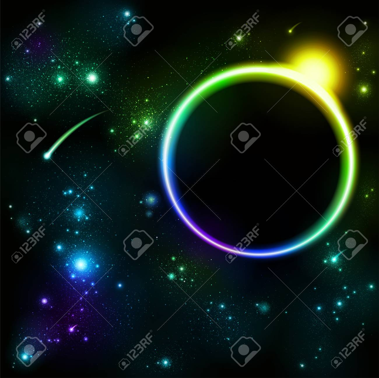 space and star background Stock Vector - 7999377