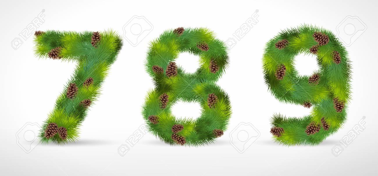 789,  christmas tree font Stock Vector - 8287347