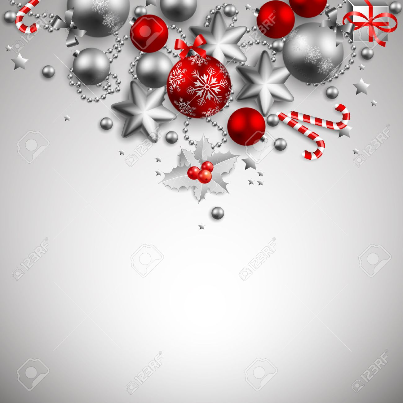 beautiful golden and red christmas background Stock Vector - 8434682