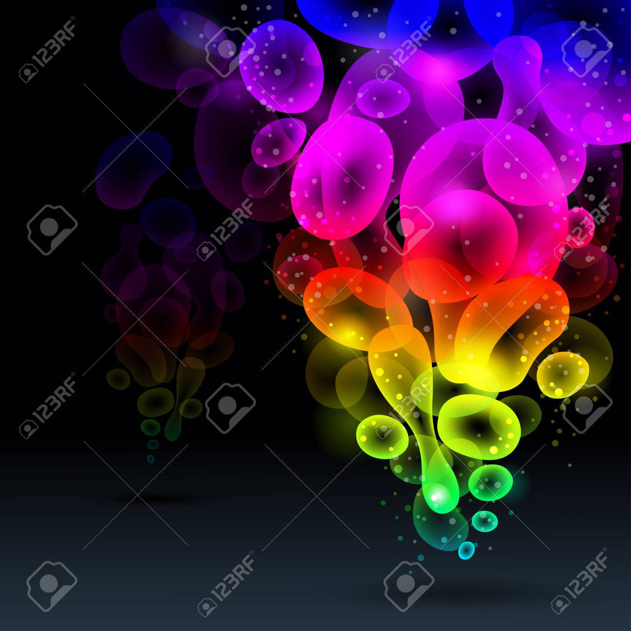Lava lamp vector - Abstract Background Vector Rainbow Illustration Stock Vector 8698790