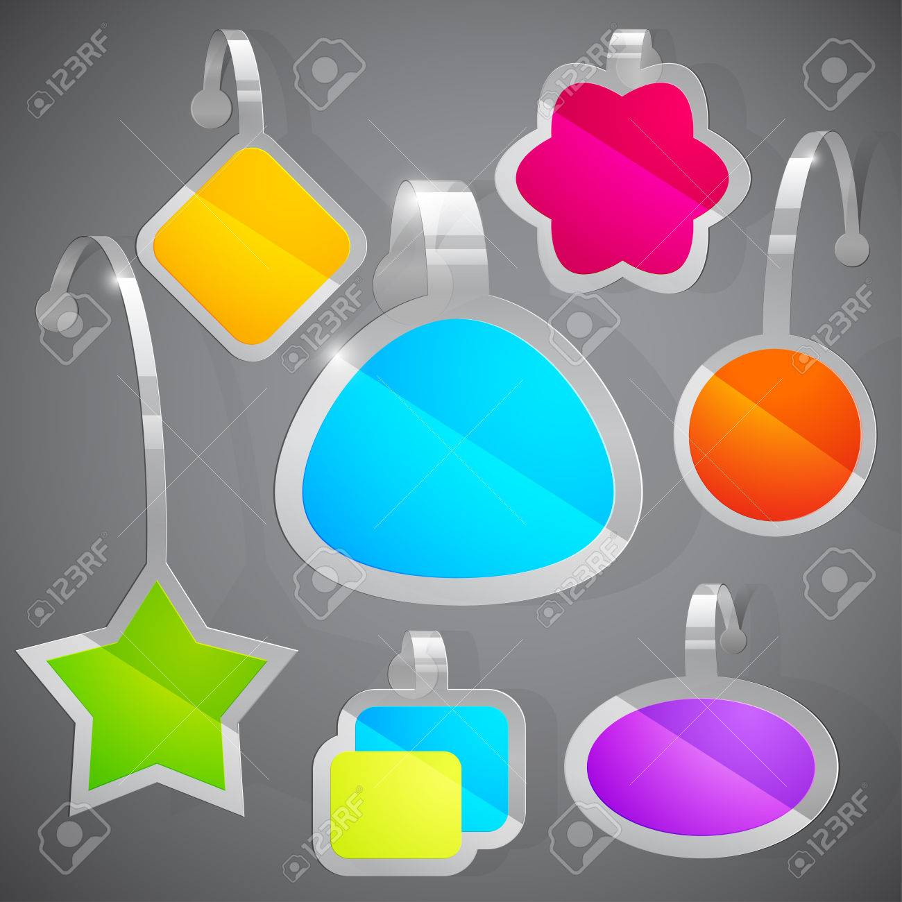 set of colorful advertising stickers. Vector illustration Stock Vector - 9088815
