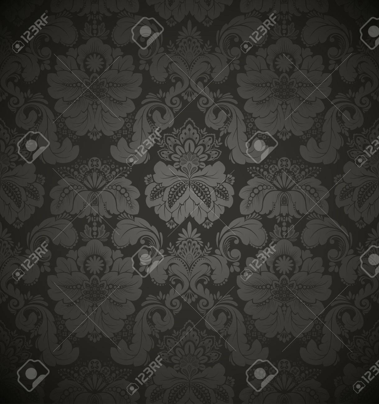 Damask seamless floral pattern. Vintage vector illustration. Stock Vector - 9194611