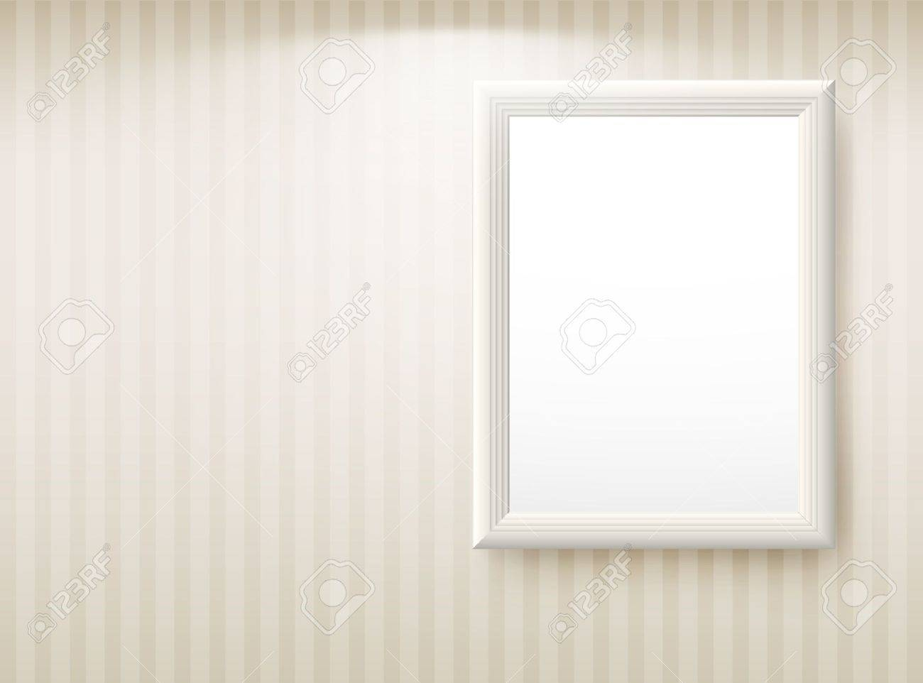 3d Empty Frame On The Wall. Vintage Background Royalty Free Cliparts ...