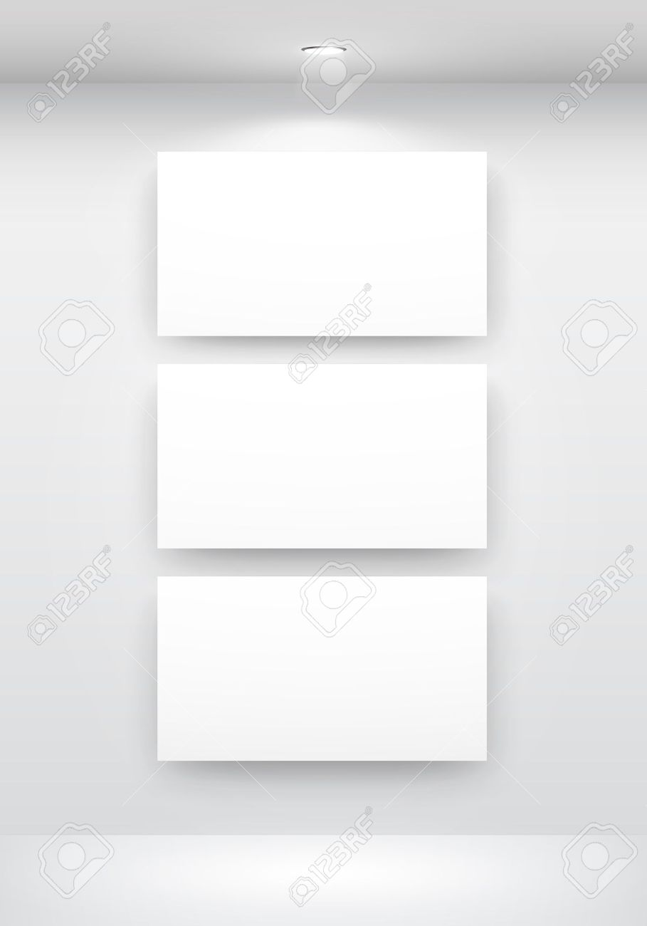 Gallery Interior with empty frames on wall Stock Vector - 9316188