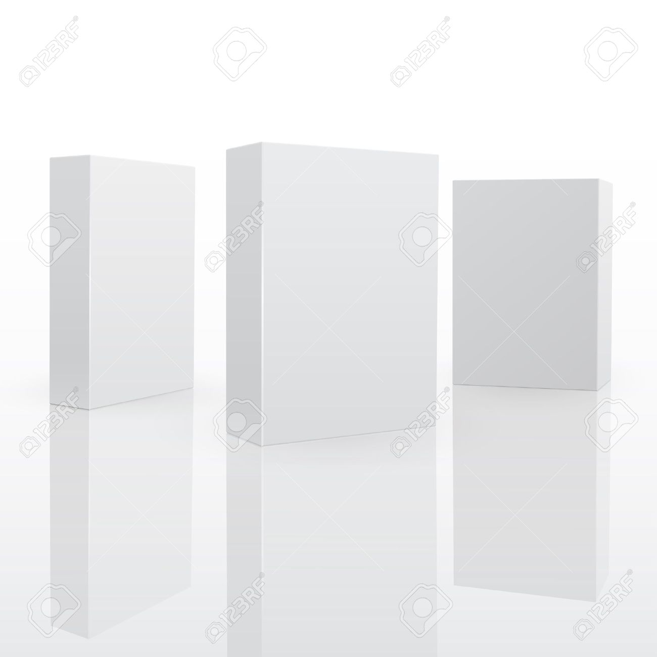 Blank pack fo software or other product. 3d vector illuctration Stock Vector - 9695909