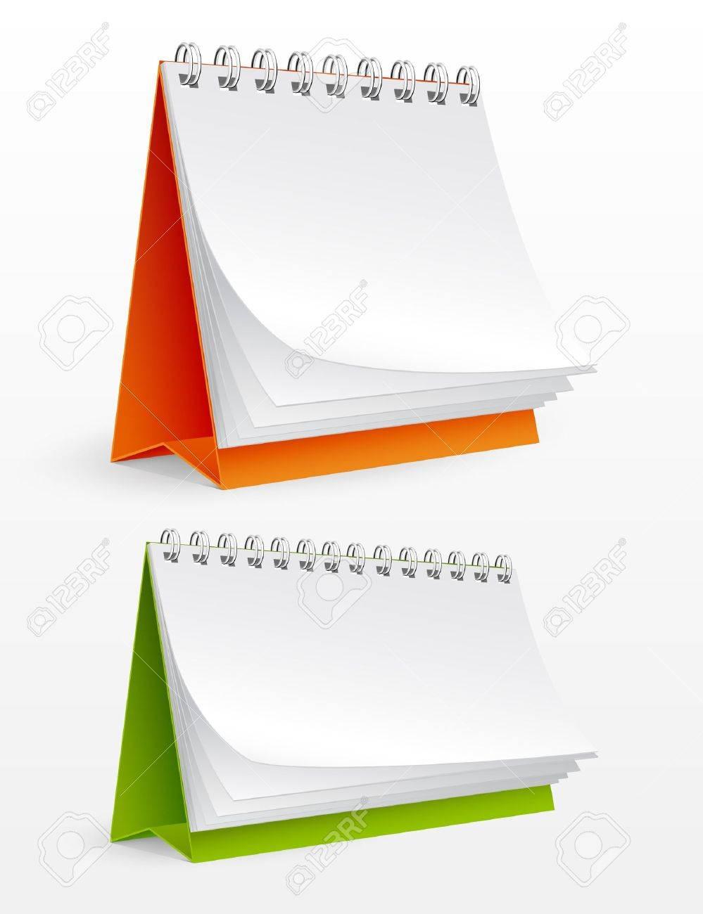 Blank desktop calendars isolated on white. Vector illustration Stock Vector - 9695917