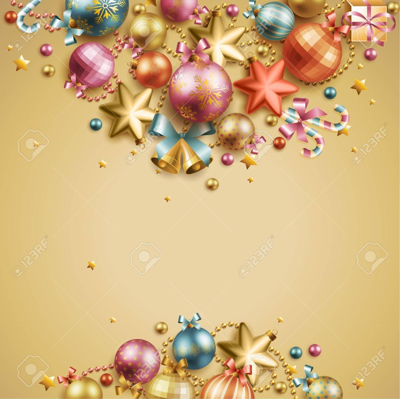 Christmas vintage background. Vector illustration. Stock Vector - 11656295