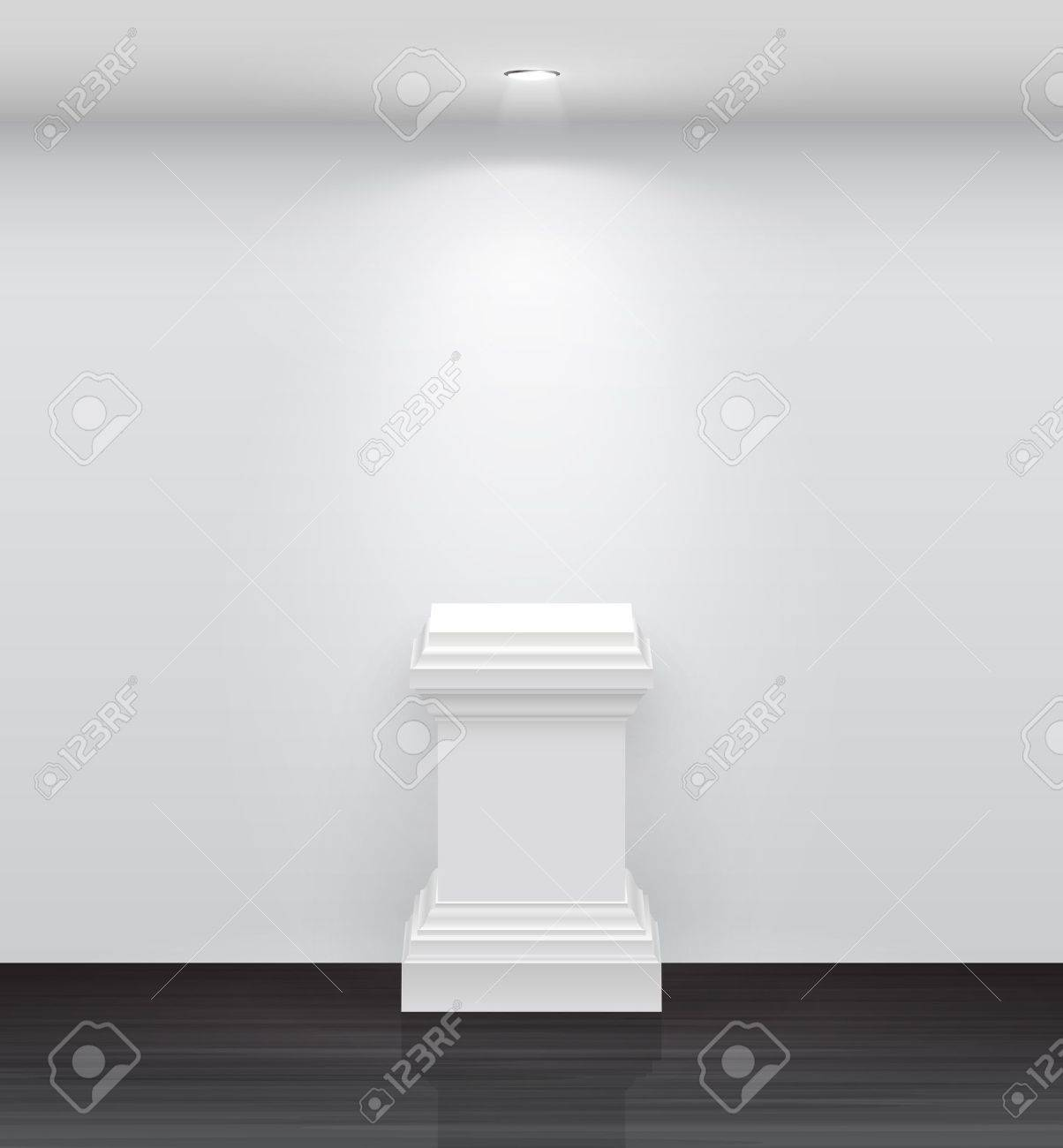 3d Empty white stand for your exhibit  illustration Stock Vector - 14748541