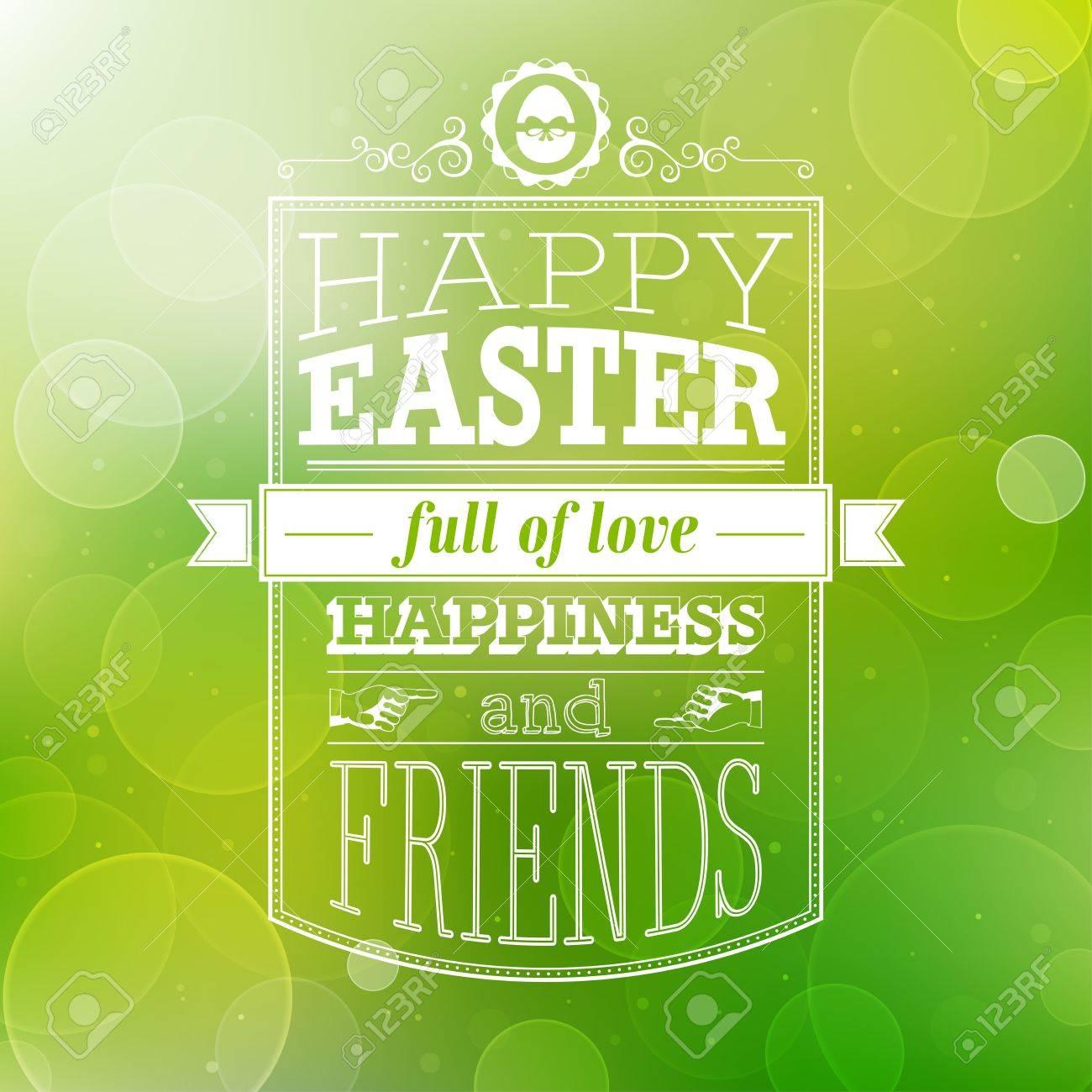 Easter card. Vector illustration. - 38173438