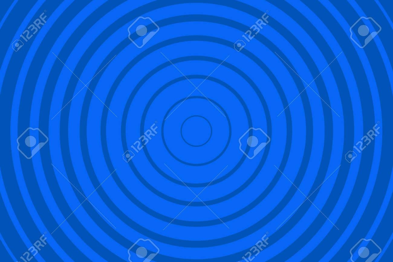 Blue Radiating concentric Circle Pattern Background. Vibrant Radial geometric Vector Illustration - 168378322