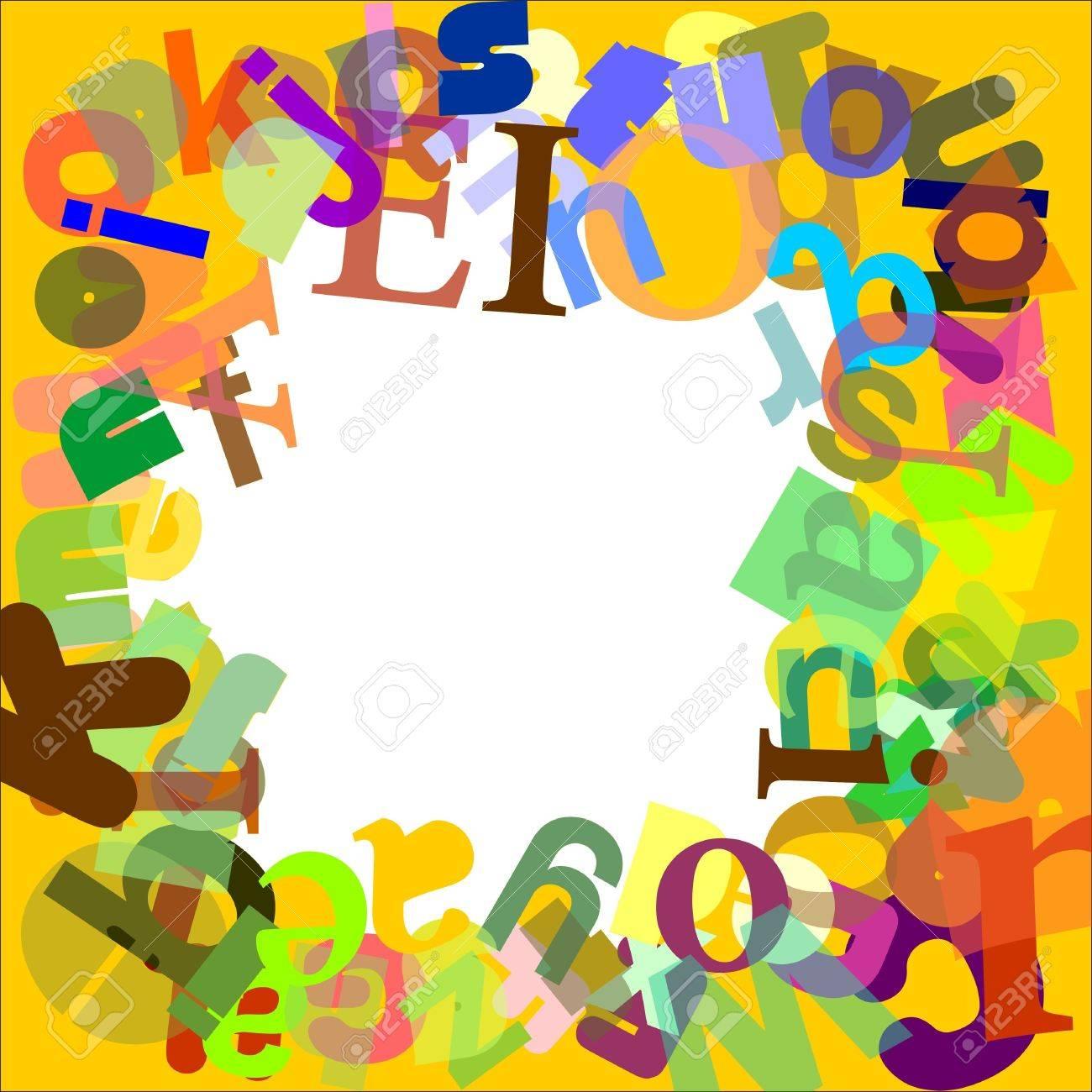 Frame letters Stock Vector - 12102328