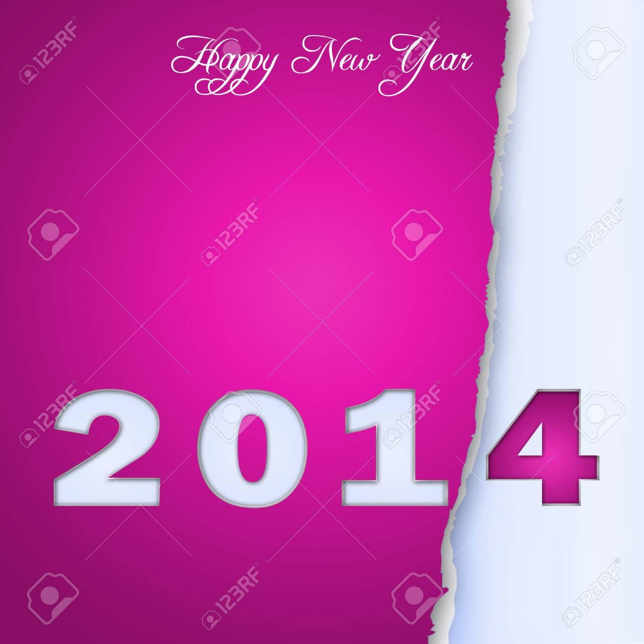New Year Design On Scraps Of Purple Paper 1 Stock Photo   24206404