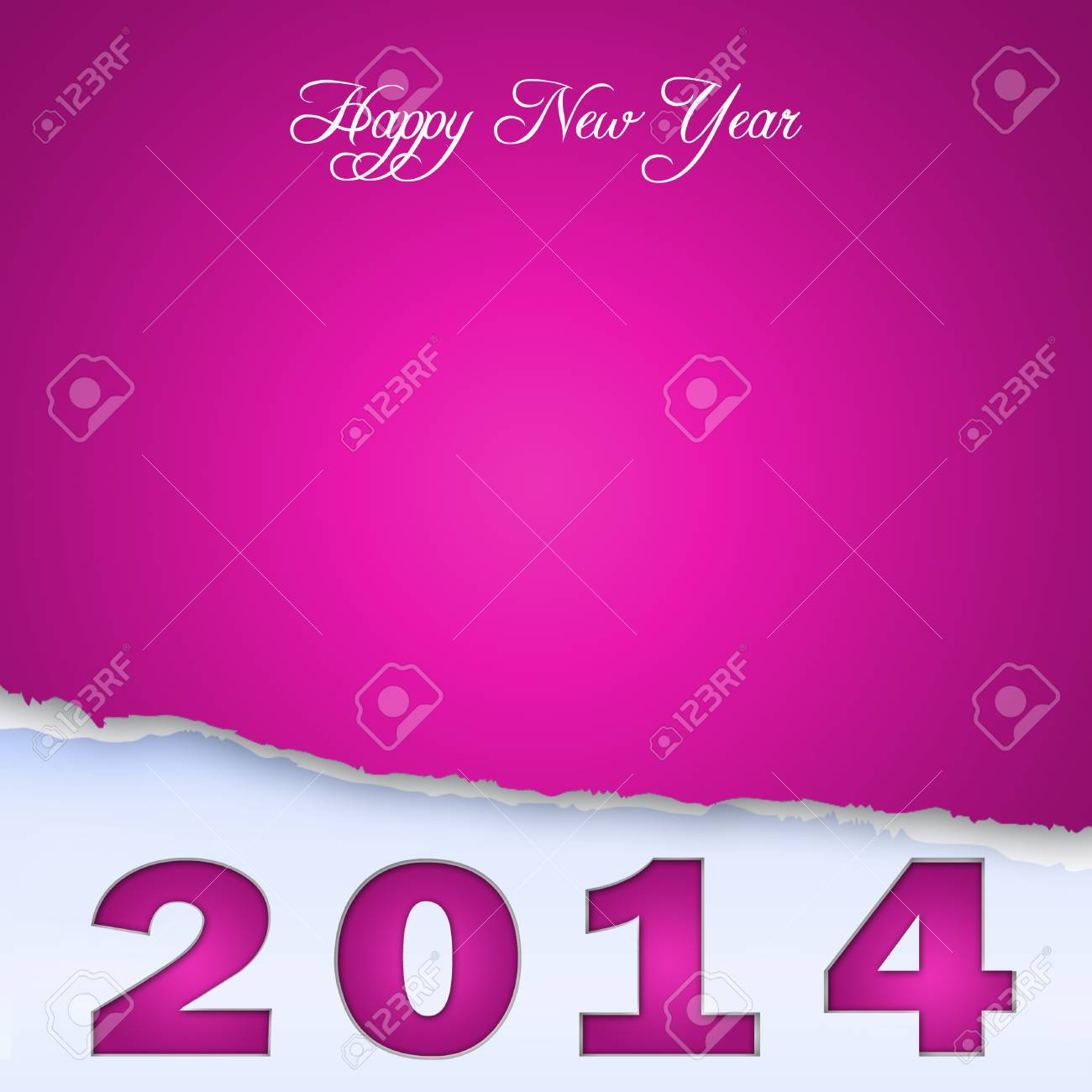 New Year Design On Scraps Of Purple Paper 2 Stock Photo   24206405