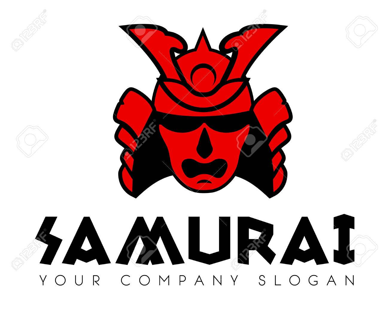 samurai face mask vector icon template royalty free cliparts rh 123rf com samurai lego samurai lego
