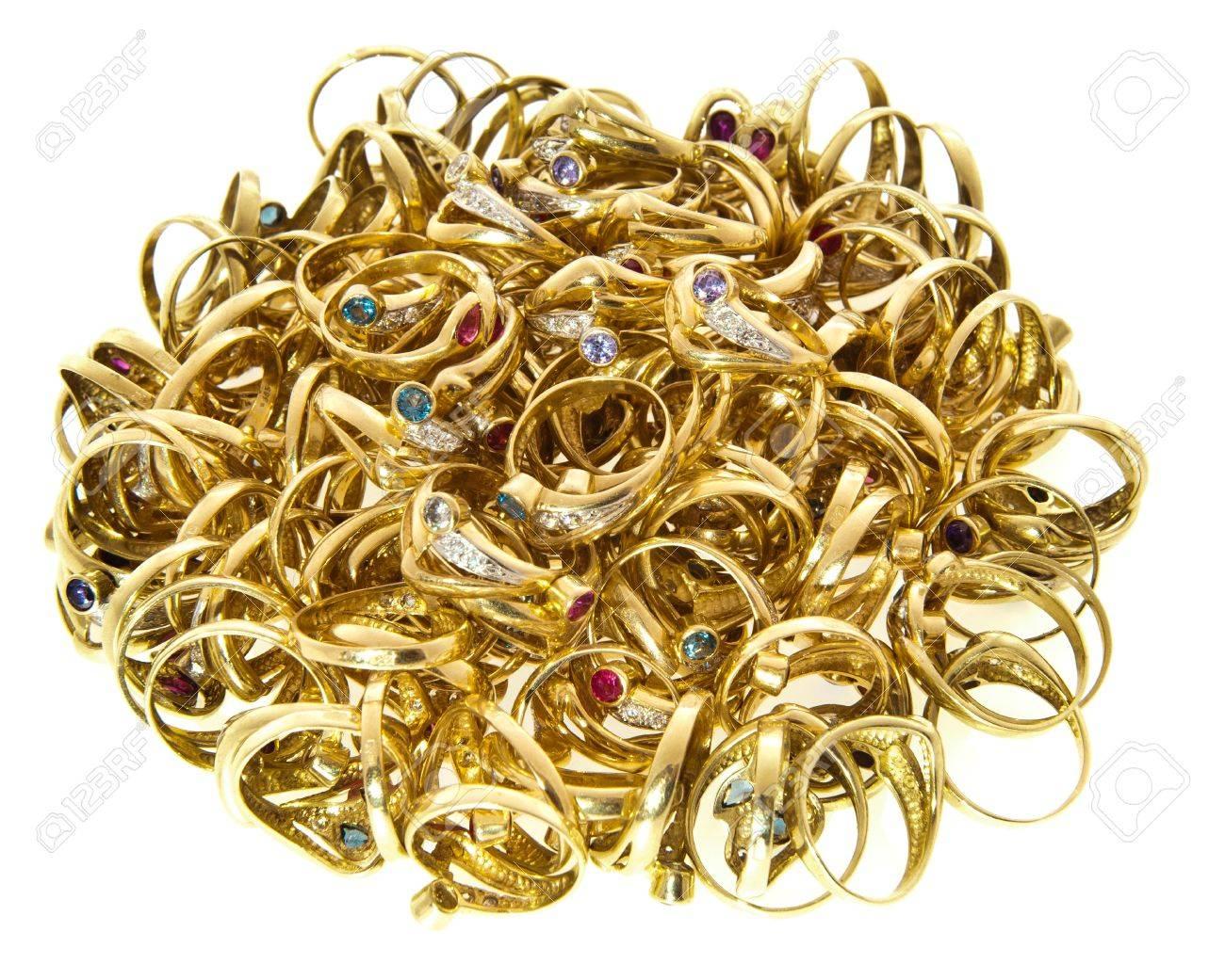 Bulk of golden rings Stock Photo - 9062262