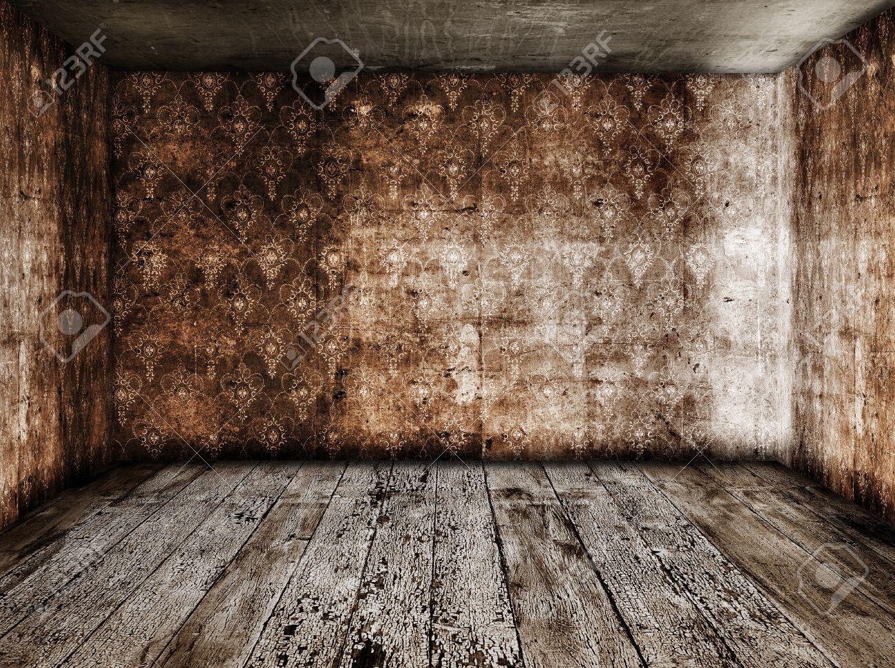 old grunge room Stock Photo - 13057238
