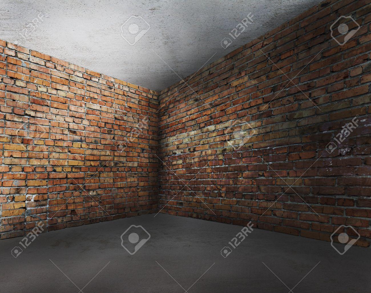 brick wall  empty room Empty Brick Wall