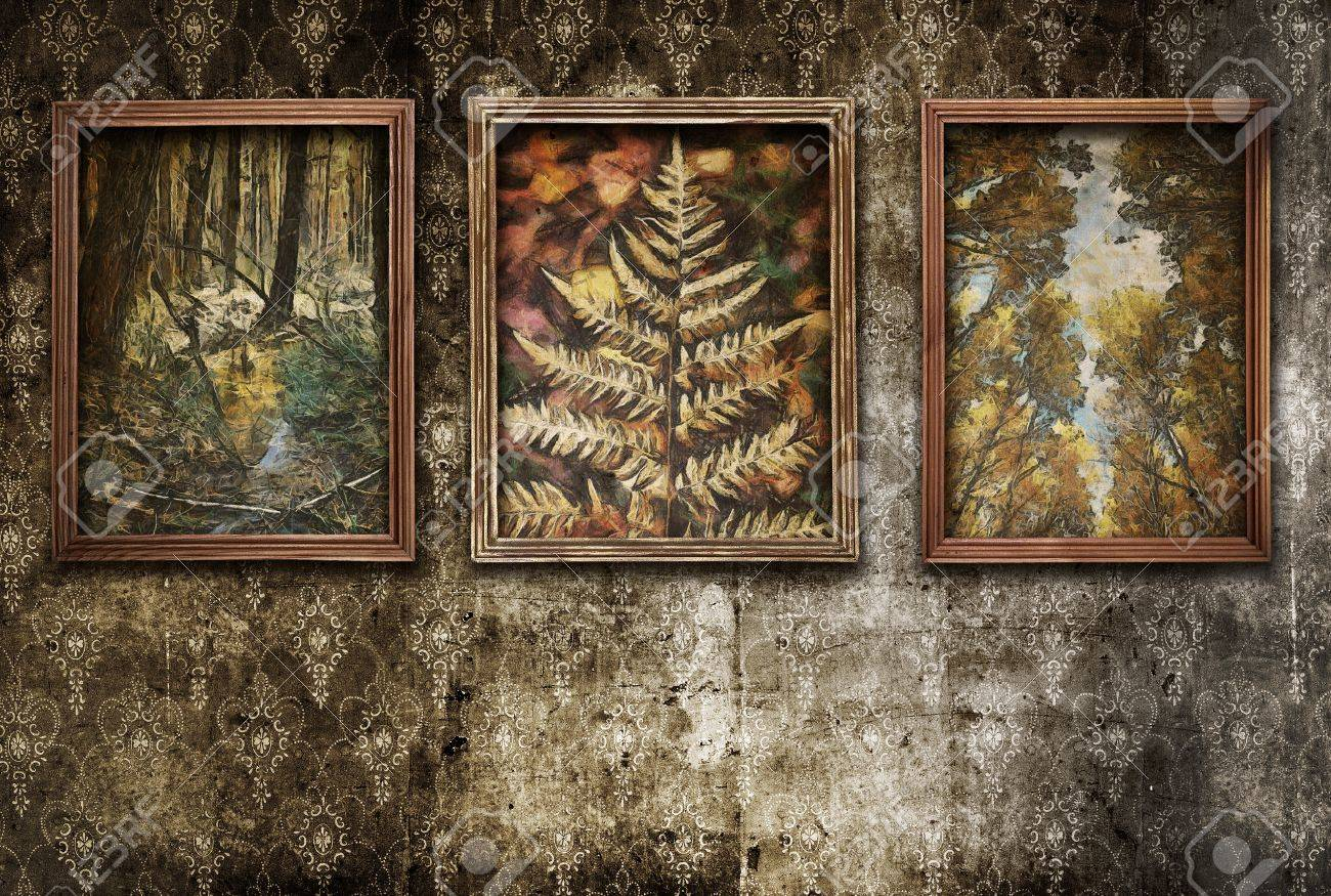 Old Paintings On The Wall Stock Photo Picture And Royalty Free Image Image 13710906