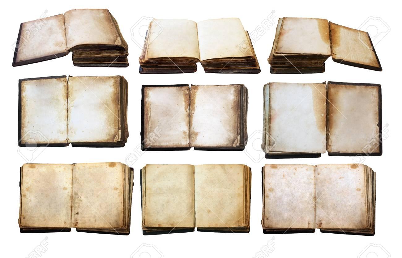 vintage books set isolated on white background Stock Photo - 13785494
