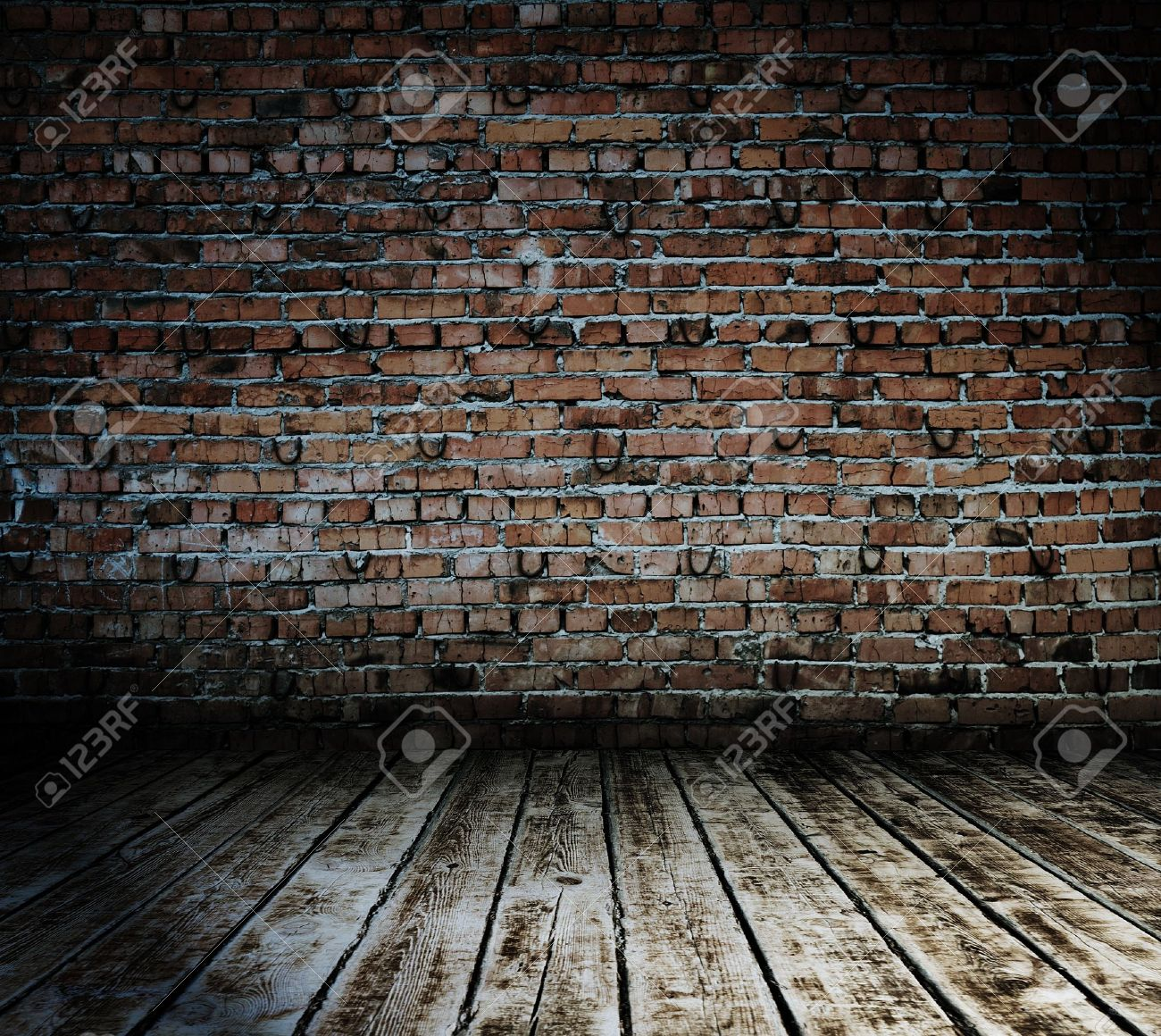 old room with brick wall, vintage background Stock Photo - 16014178