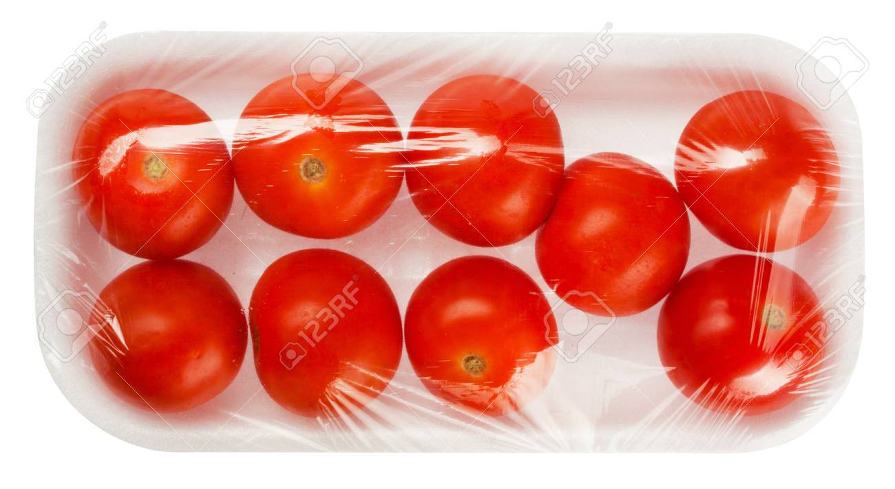 tomato in vacuum packing isolated on white background - 16960714