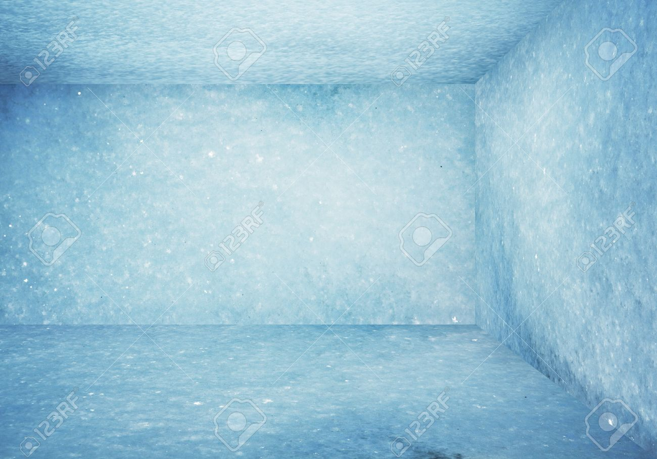 Frozen Room Christmas Background Stock Photo