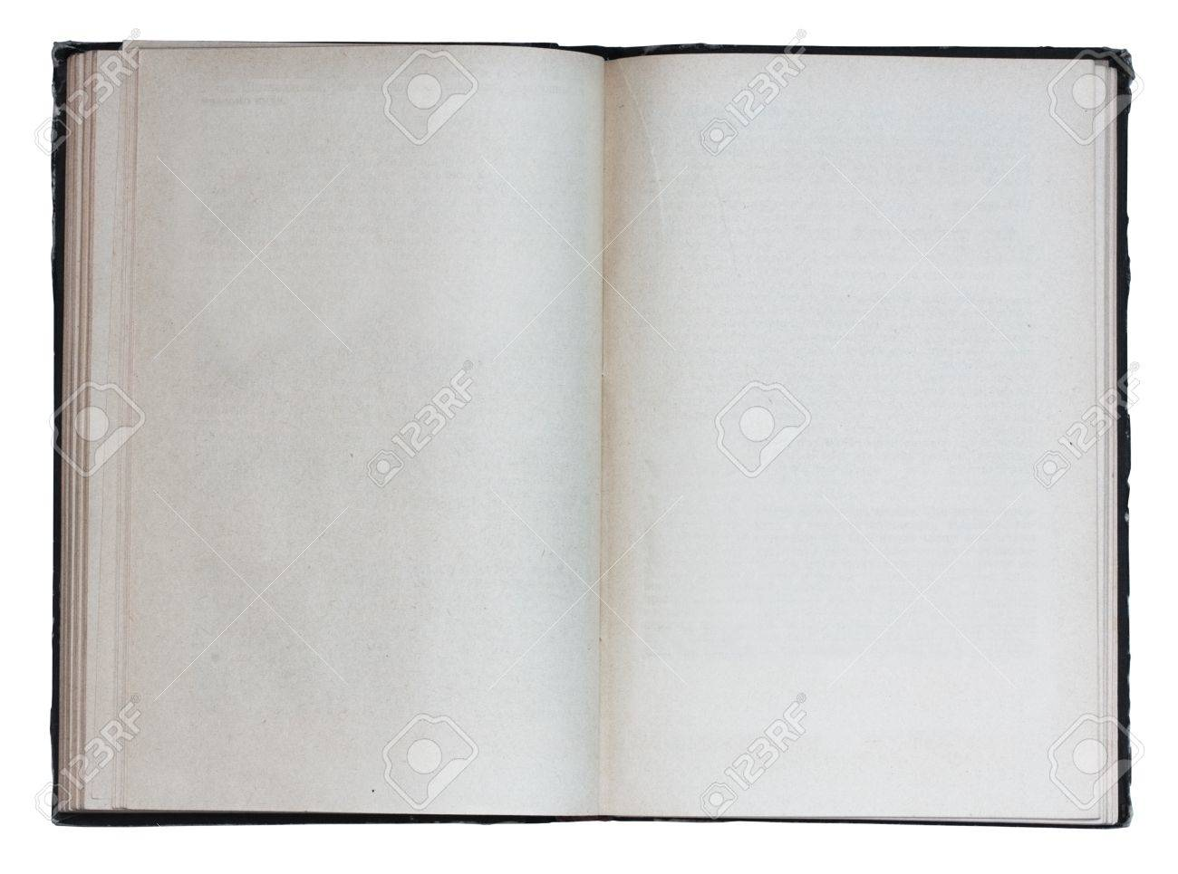 Livre Blanc Ouvert Isole Sur Fond Blanc Avec Chemin De Detourage