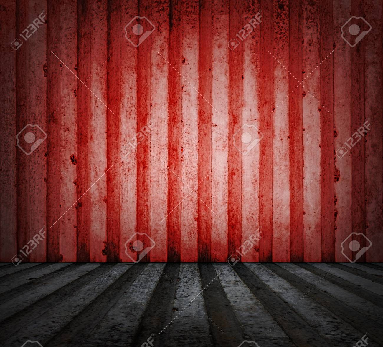 old red room with concrete walld Stock Photo - 18557314